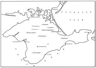 Місцезнаходження свердловини Солдатівська - 1 на території Рівнинного Криму.