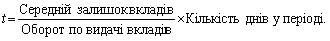 """ривал≥сть одного обороту депозитних вкладень у дн¤х"